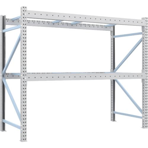 TRUSCO 重量パレット棚1トン2300×1000×H2000単体(1D20B23102)