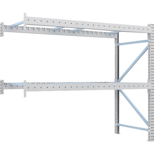 TRUSCO 重量パレット棚1トン2500×1000×H2000連結(1D20B25102B)*代引き不可、個人宅配送不可