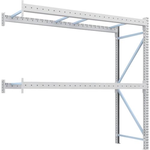 TRUSCO 重量パレット棚1トン2500×900×H2500連結 2段(1D25B25092B)