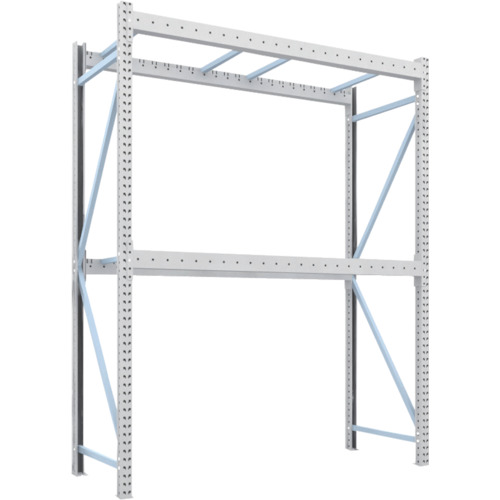 TRUSCO パレットラック1トン用2300X900XH3000 2段 単体(1D30B23092)