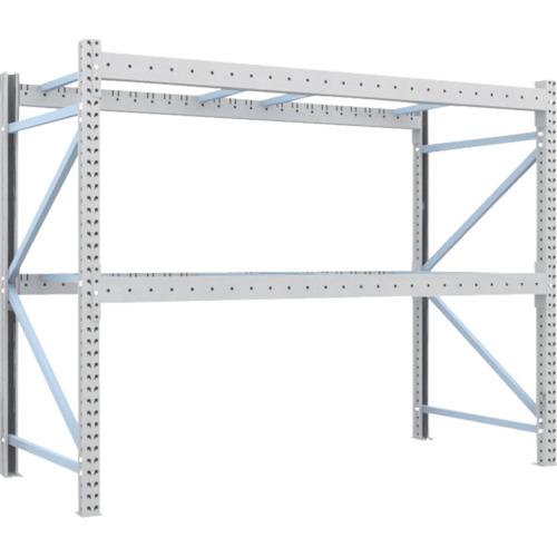 TRUSCO 重量パレット棚2トン2500×1100×H2000単体(2D20B25112)