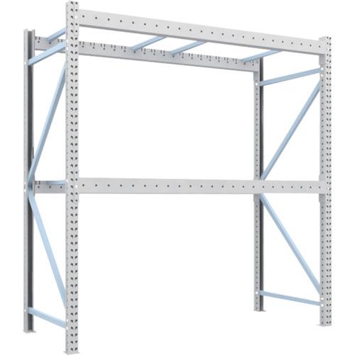 TRUSCO 重量パレット棚2トン2300×1000×H2500単体(2D25B23102)