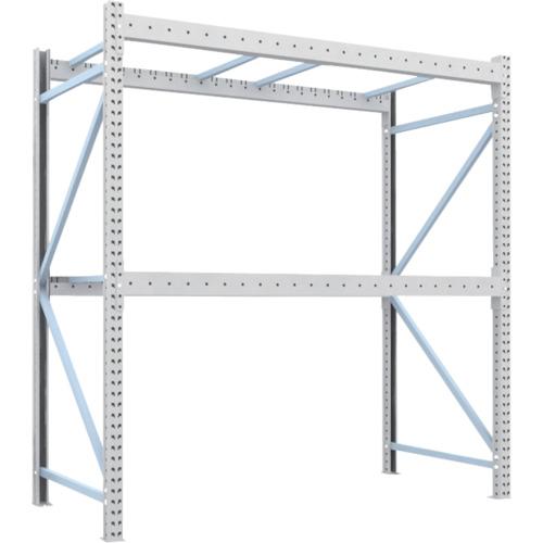 TRUSCO 重量パレット棚2トン2300×1100×H2500単体(2D25B23112)