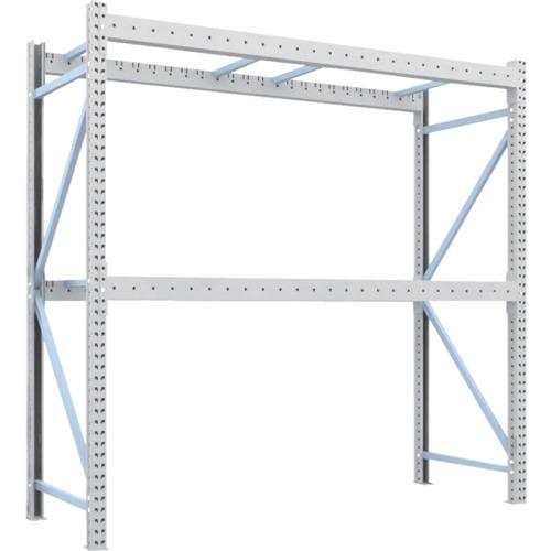 TRUSCO 重量パレット棚2トン2500×900×H2500単体 2段(2D25B25092)