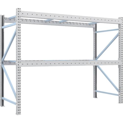 TRUSCO 重量パレット棚1トン2500×1000×H2000単体(1D20B25102)