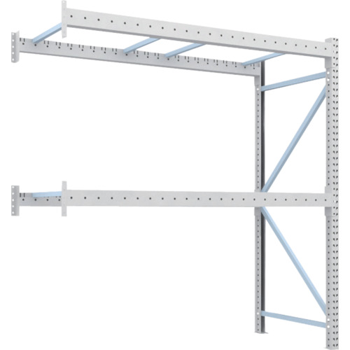 TRUSCO 重量パレット棚1トン2300×1000×H2500連結(1D25B23102B)