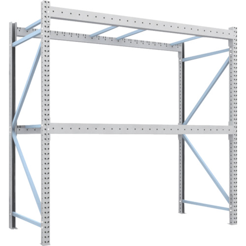 TRUSCO 重量パレット棚1トン2500×1100×H2500単体(1D25B25112)