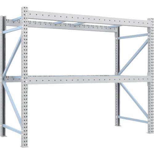 TRUSCO 重量パレット棚2トン2300×1000×H2000単体(2D20B23102)*代引き不可、個人宅配送不可
