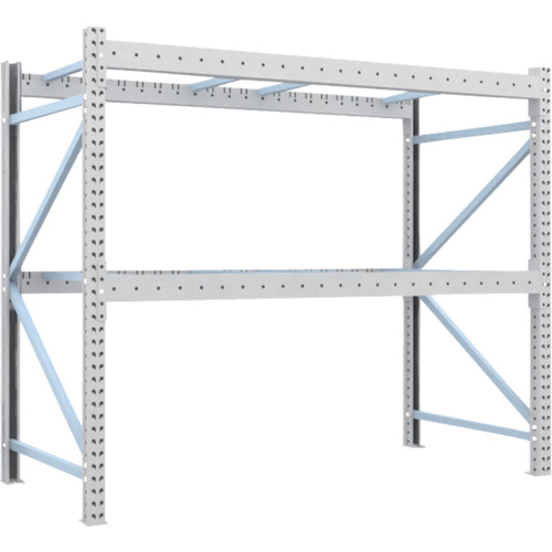 TRUSCO 重量パレット棚2トン2300×1100×H2000単体(2D20B23112)