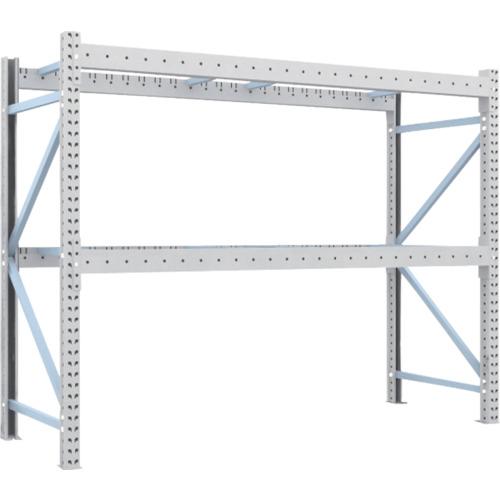 TRUSCO 重量パレット棚2トン2500×900×H2000単体 2段(2D20B25092)