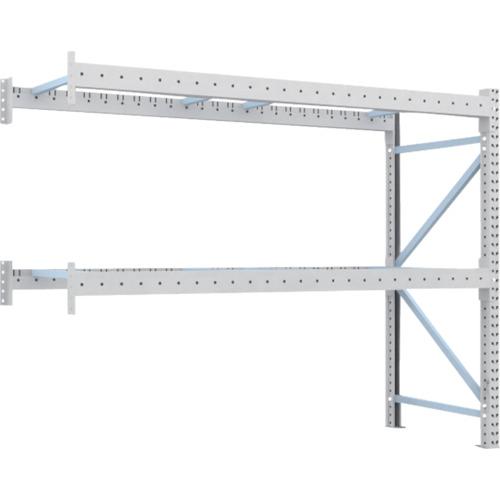 TRUSCO 重量パレット棚2トン2500×900×H2000連結 2段(2D20B25092B)*代引き不可、個人宅配送不可
