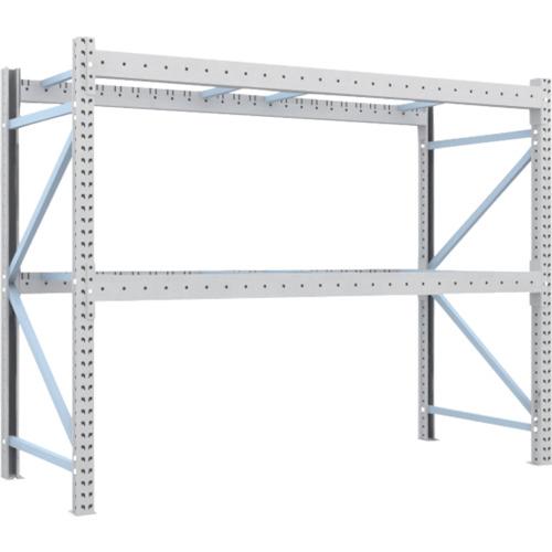 TRUSCO 重量パレット棚2トン2500×1000×H2000単体(2D20B25102)