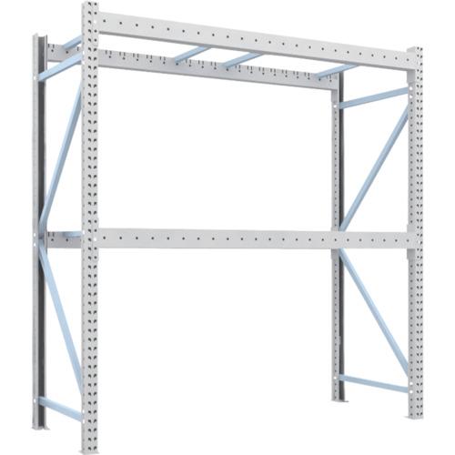TRUSCO 重量パレット棚2トン2300×900×H2500単体 2段(2D25B23092)