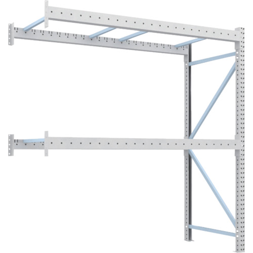 TRUSCO 重量パレット棚2トン2300×1000×H2500連結(2D25B23102B)*代引き不可、個人宅配送不可