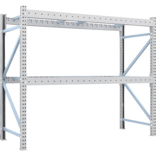 TRUSCO 重量パレット棚2トン2300×900×H2000単体 2段(2D20B23092)