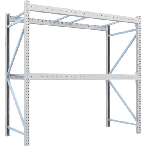 TRUSCO 重量パレット棚2トン2500×1100×H2500単体(2D25B25112)