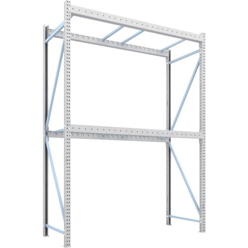 高い素材 TRUSCO パレットラック2トン用2500X1000XH3500 2段 単体(2D35L25102):ペイントアンドツール-DIY・工具