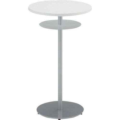 イトーキ ハイテーブル(円型)棚付 600X1000(TRA060HCTZ5W9)