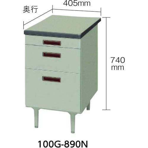 トヨスチール 脇机 405x730x740(100G8002N)