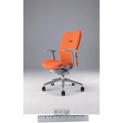 ナイキ ミドルバックチェアー 「エネア」 肘付き 布 オレンジ(ZE511FOR)