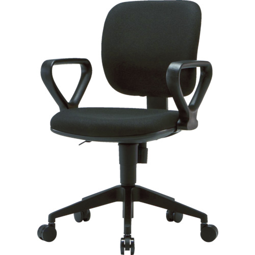 TRUSCO オフィスチェア 布張り 肘付 ブラック(FZ3ABK)