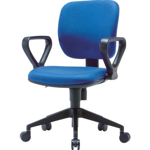 TRUSCO オフィスチェア 布張り 肘付 ブルー(FZ3ABL)