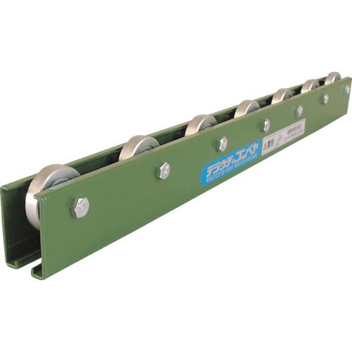 TS 削り出しスチール製ホイールコンベヤ Φ36X9 P100X2000L(KRA4P100X2000L)