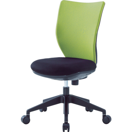 アイリスチトセ 回転椅子3DA ライムグリーン 肘なし(3DA45M0LGN)