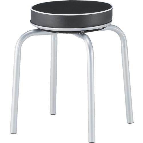TRUSCO 300Φ回転丸椅子 Φ300X450 キャスター無(TYZ8009)
