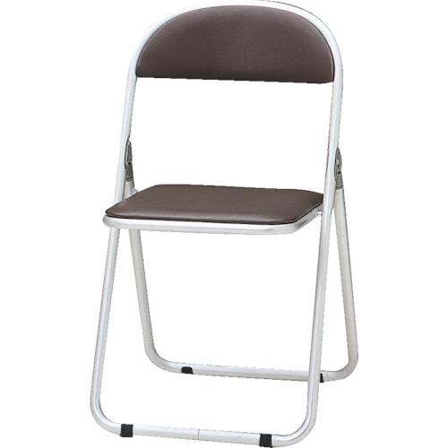 TOKIO パイプ椅子 シリンダ機能付 アルミパイプ ブラウン(CF700BR)