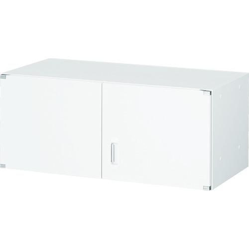 TRUSCO U型壁面書庫 両開き H380 W色(UHW4)