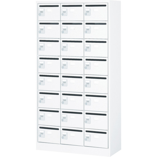TRUSCO メールボックス 24人用 手ぶらキー 900X380XH1700(WMVK24P)