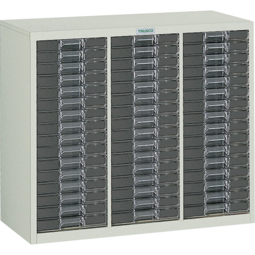 TRUSCO カタログケース 浅型3列16段 825X360XH700(LA3C16)