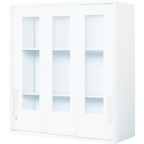 コクヨ 収納庫 エディア 3枚ガラス引き違い戸、上置き(BWUHGU359SAW)