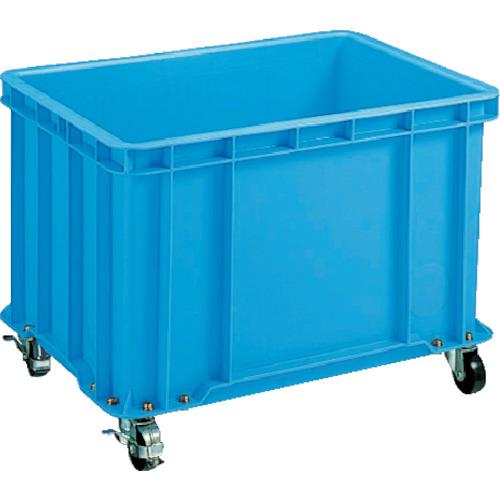 積水 S型コンテナ S-100 キャスター付(自在4ケ内2ケストッパー付き) 青(S100C)