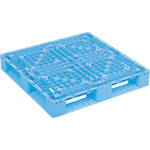 サンコー プラスチックパレット D4ー1010ー2 青(SKD410102BL)*代引き不可、個人宅配送不可