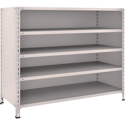 TRUSCO 軽量棚背板・側板付 W1500XD600X1200 5段 ネオグレ(45W25)