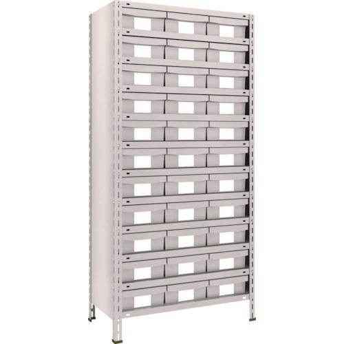 TRUSCO 軽量棚 875X450X1800 樹脂引出NG 大X33 ネオグレ(63X812F11)