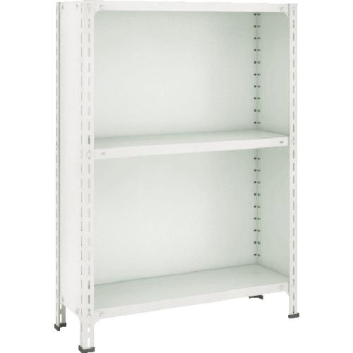 TRUSCO 軽量棚背板・側板付 875X600X1200 3段 ネオグレ(43W23)