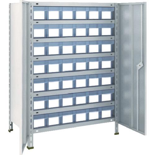 売上実績NO.1 TRUSCO 軽量棚扉付 875X450X1200樹脂引出透明小X42 ネオグレ(43XT808C7):ペイントアンドツール-DIY・工具
