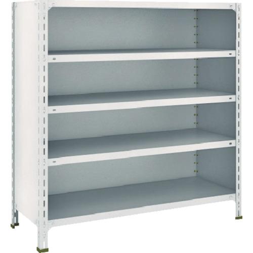 TRUSCO 軽量棚背板・側板付 W1200XD450X1200 5段 ネオグレ(44X25)