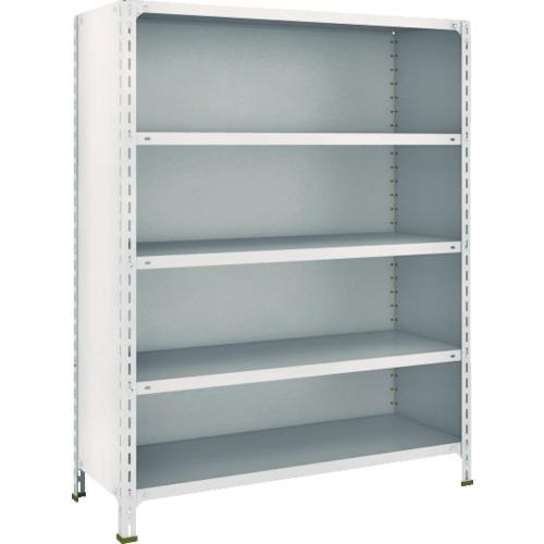 TRUSCO 軽量棚背板・側板付 W1200XD450X1500 5段 ネオグレ(54X25)