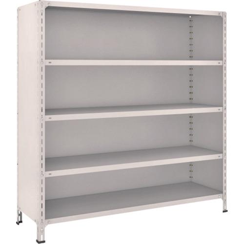 TRUSCO 軽量棚背板・側板付 W1500XD450X1500 5段 ネオグレ(55X25)