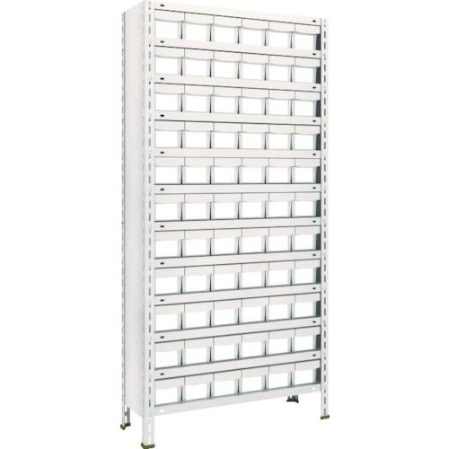 TRUSCO 軽量棚 875X300X1800 樹脂引出NG 小X66 ネオグレ(63V812E11)