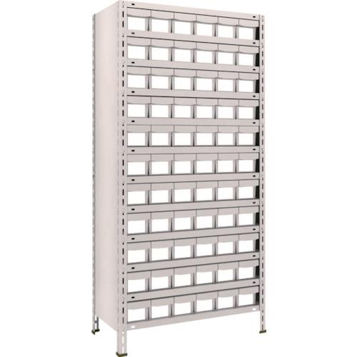 TRUSCO 軽量棚 875X450X1800 樹脂引出NG 小X66 ネオグレ(63X812E11)