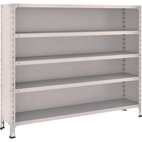 TRUSCO 軽量棚背板・側板付 W1500XD300X1200 5段 ネオグレ(45V25)