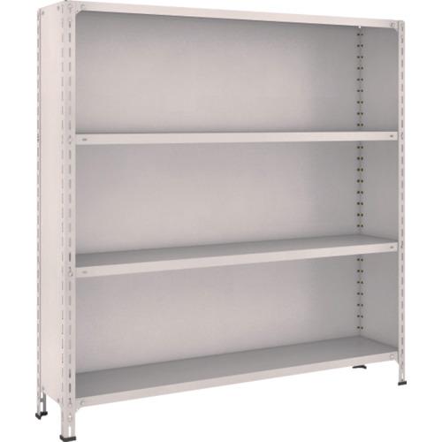 TRUSCO 軽量棚背板・側板付 W1500XD300X1500 4段 ネオグレ(55V24)