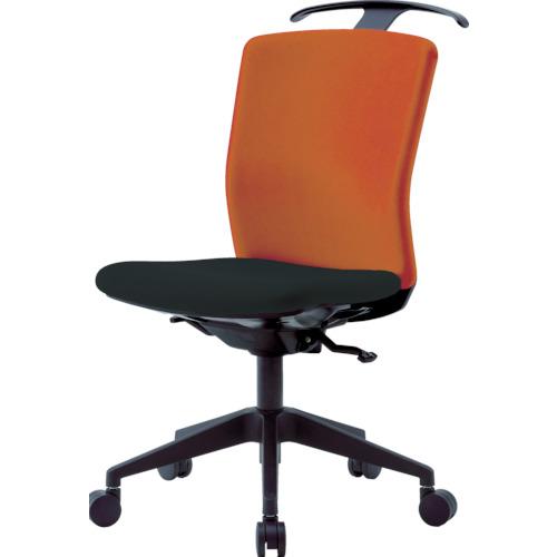 アイリスチトセ ハンガー付回転椅子(シンクロロッキング) オレンジ/ブラック(HGXCKRS46M0FOG)