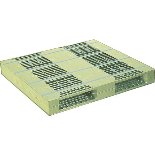 NPC プラスチックパレットZR-110120E 両面二方差し ライトグリーン(ZR110120ELG)*代引き不可、個人宅配送不可