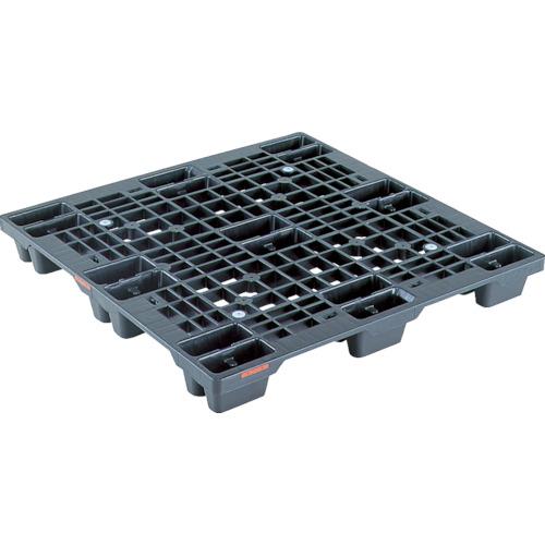 サンコー プラスチックパレット SN4ー1111 黒(SKSN41111BK)*代引き不可、個人宅配送不可